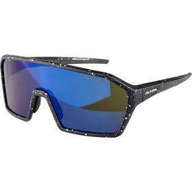 Alpina Ram HM+ Glasses black blur matt/blue mirror